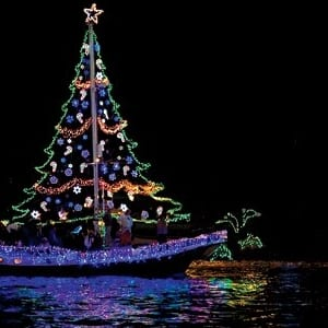 Christmas Boat Decorations.Holiday Boat Parade Tree Lighting Destination Tampa Bay