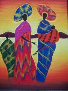 abtract african art of women