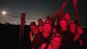 Moonlight ziplining at empower adventures tampa bay