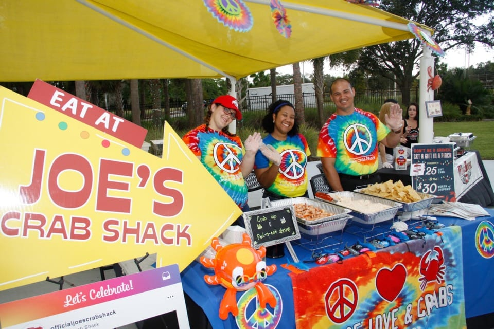Largos Taste Fest with one of the participating restaurants Joes Crab Shack