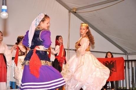 SPIFFS International Folk Fair of albanian dancers