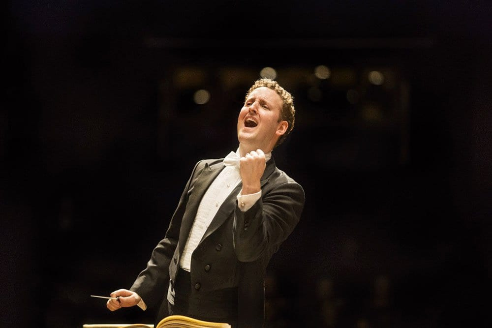Michael Francis the conductor of the Florida Orchestra for the Tampa Bay Masterwork Series